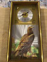 Bald Eagle Hawk Mountain Back Country Scene 3D Graphics Emdur Wall Clock