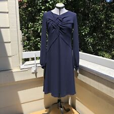 Isabel De Pedro Jersey Knit Dress Navy Blue Size 8