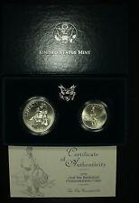1995 Civil War Commemorative Silver Dollars. Two Coin Gem BU Set. Lot # 027