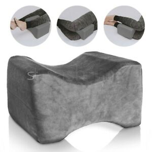 Memory Foam Contour Leg Pillow Bed Orthopaedic Firm Back Hips Knee Support Cover