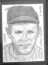 2012 Leaf Best of Baseball Sketch Card Whitey Ford by Jay Pangan No 1 of 1