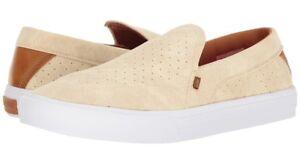 Men's GLOBE CASTRO LYT Slip on Shoes, Color: OFF White/White, Size:9