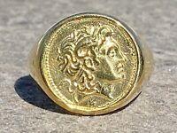 SiegelRing Alexander Der Große Münze17 mm