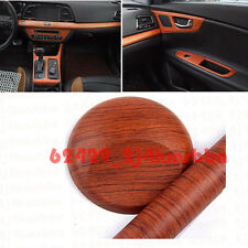 1.5 x 4ft Car Wood Textured Grain Decorative Sticker Vinyl Decal Rosewood Brown