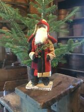 New listing Primitive Christmas Log Cabin Quilt Coat Santa Claus
