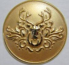 "Reindeer Head Gold 1"" Lapel Pin"