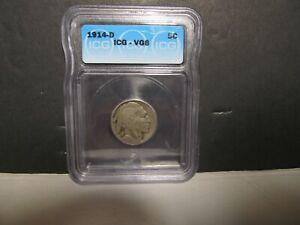 1914-D  Buffalo Nickel <> ICG CERTIFIED VG8