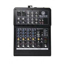 6 Channel Mezclador de audio Console with EFX Processor, topp PRO Music Gear mx6fxv2