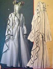 McCalls 4997 RENAISSANCE DRESS GOWN sz 6-12 Bust 30.5-34 Costume Sewing Pattern