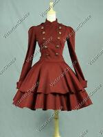 Victorian Lolita Theater Military Mad Hatter Coat Dress Halloween Costume C022