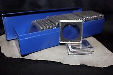 30 Silver Dollar 38mm Intercept 2x2 Snap Capsules + Coin Storage Plastic Box