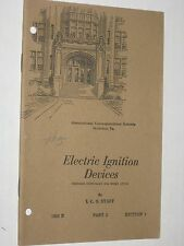 Electric Ignition Devices - Vintage 1920 Booklet - Int Correspondence Schools