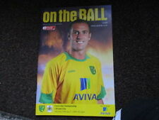 First Division Norwich City Teams L-N Football Programmes