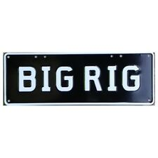 Novelty Number Plate - Big Rig - White On Black AUS Licence Plate Sign Wall Art