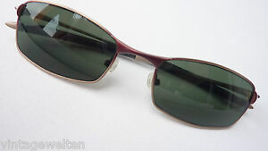 ORGINAL 90er Fat Boy Unit Sonnenbrille gebogene Form Steckbügel braun NEU Gr. M