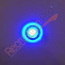 2 NEW ROUND BLUE LED LIVEWELL COURTESY LIGHTS MARINE BOAT RV 12V WATERPROOF