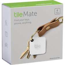 Tile Mate Blutooth Key Wallet Cellphone Item Tracker Finder | 4-Pack