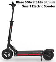 Blaze 600 watt 48v Lithium Smart Electric Scooter. Super lightweight. 30+ mph
