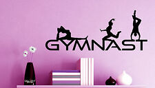 GYMNAST WALL ART VINYL DECAL girl BEDROOM kwds: gymnastic leotard grips mural