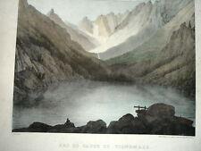 VIGNEMALE LAC de GAUBE FRANCIA PIRENEI litografia