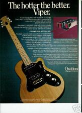 1977 HOTTER THE BETTER OVATION SOLID BODY VIPER AD