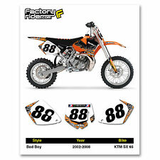Bad Boy TEAM Motocross Number Plate Graphic 2002-2008 KTM 65 SX by ENJOY MFG