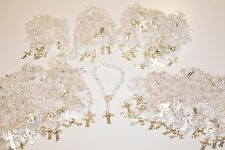 24 X MINI ROSARY BAPTISM BODA XV CHRISTENING FAVORS RECUERDOS CLEAR COMMUNION
