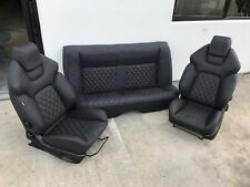 HSV VE GTS STYLE SEATS PAIR GENUINE ITALIAN LEATHER HOLDEN COMMODORE VH/VK/VL