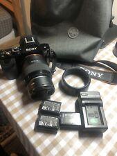 Sony Alpha A7 24.3 MP Mirrorless Digital Camera with 50mm/ F1.8 Lens - Black