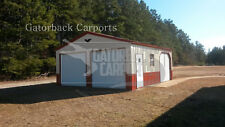 metal Garage pre-fab steel building, steel garage, workshop, metal building
