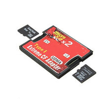 2 Port Micro SD TF SDHC To Type I 1 Compact Flash Card CF Reader Adapter Tide