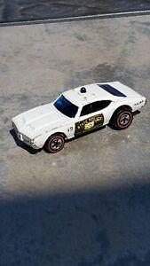 Vintage Mattel Hot Wheels 1969 Redlines Police Car