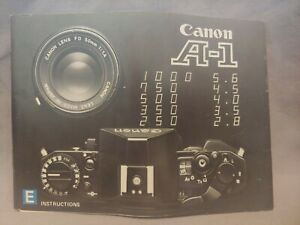Vintage Canon A-1 Film Camera Owner's Instruction Manual