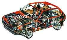 Fiat Ritmo Abarth Rallye Gr. 2 / 1978 - Bild Schnittzeichnung