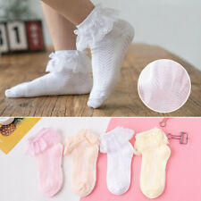 Baby Girl Lace Bows Ruffle Frilly Ankle Sock Sweet Princess Cotton Ballet Socks