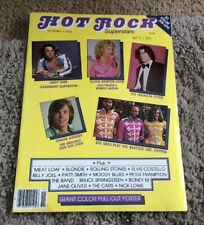 1978 Hot Rock Superstars Magazine #1 Bee Gees Andy Gibb Travolta Grease Poster
