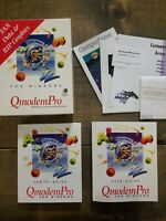 QmodemPro for Windows Version 1 Vintage Software with Discs & Books in Open Box