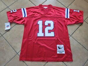 #12 Tom Brady New England Patriots Throwback Jersey Size Large NWT