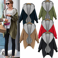 Womens Hoodie Sweatshirt Jacket Coat Hooded Cardigan Top Parka Outwear Plus Size