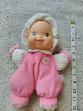 Goldberger Baby's First Doll Minky So Soft Pink White Baby Plush Dolly Toy