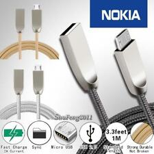 For Nokia - 3FT Micro USB Fast Charging Phone Data Sync Charger Braided Cable