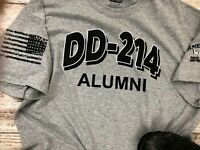 DD-214 Alumni Military Veteran T-shirt, Army Marines, Navy Air Force USMC