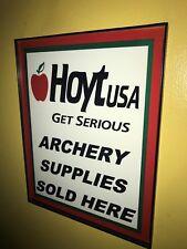 Hoyt Archery Bow Hunter Framed Print Man Cave Sign