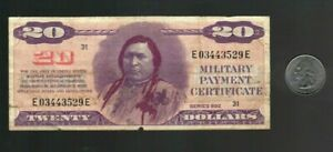 MPC Military Payment Certificate Series 692 $20 Dollar Note EF