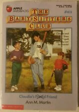 The Baby-Sitters Club #63 Claudia's Friend ANN M. MARTIN Softcover 1993