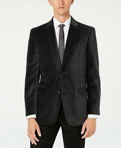 Tommy Hilfiger Modern Fit Stretch Velvet Sport Coat Mens 40L 40 Grey $295