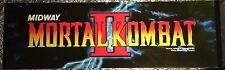 """Mortal Kombat II Arcade Marquee 25"""" x 7.5"""""""