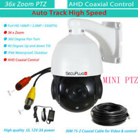 36x Zoom  Auto Tracking PTZ Camera High Speed Dome 1080P AHD CCTV Security Camer
