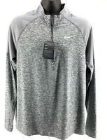 Nike Dri-Fit Element Half Zip Running Top Grey AH8973-021  Men's Multiple Sizes