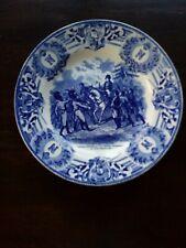 Aardewerk bord/schotel Napoleon (blauw-wit)